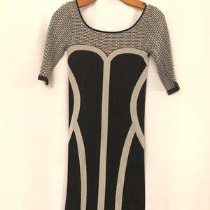 Black and Gray Bebe DRESS